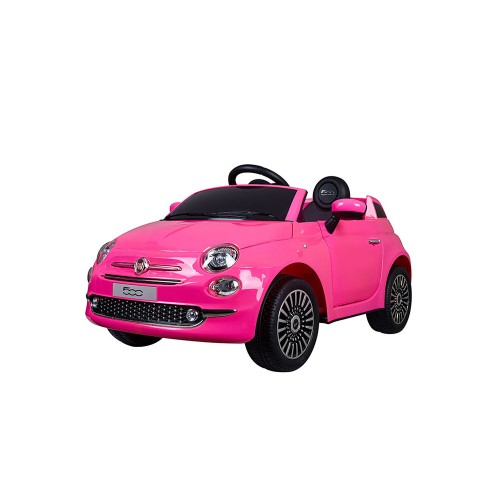 auto elettrica fiat 500 rosa - mazzeo giocattoli