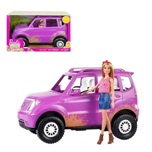 Bambola Barbie con suv - mattel