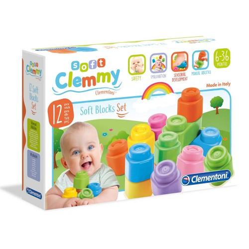 clemmy baby 12 blocchi soft - clementoni