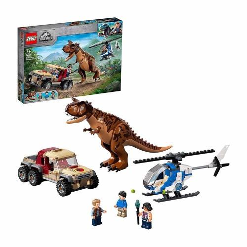 Jurassic World L'Inseguimento del Dinosauro Carnotaurus - Lego