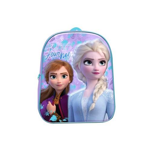 Zaino asilo Frozen 3d con singolo scomparto