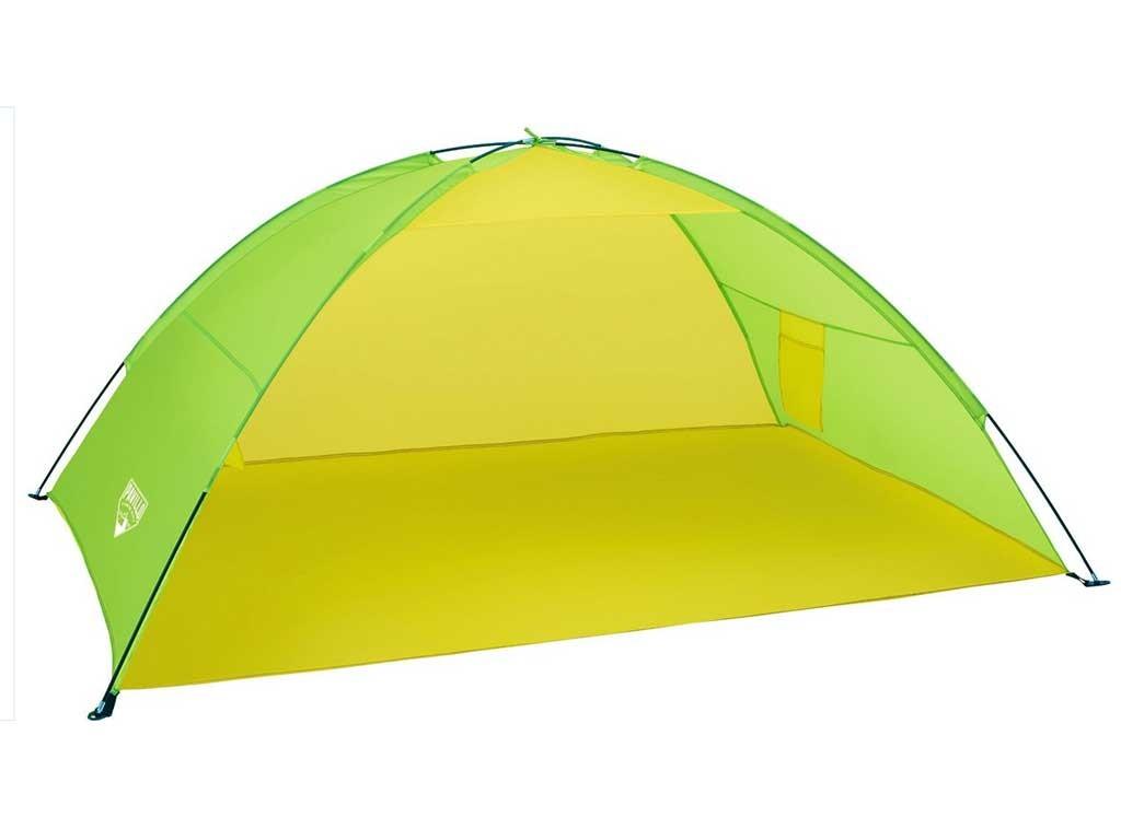 Tenda da spiaggia a cupola verde giallo