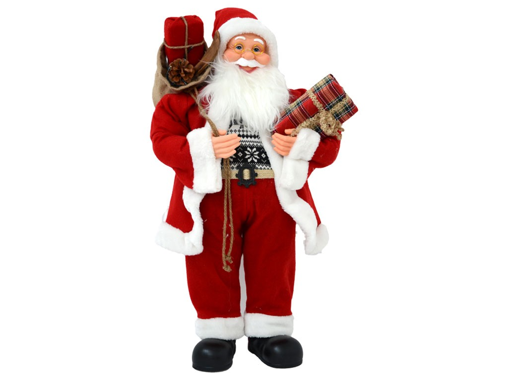 Babbo Natale Musicale.Pupazzo Musicale Babbo Natale 80cm Mazzeo Giocattoli