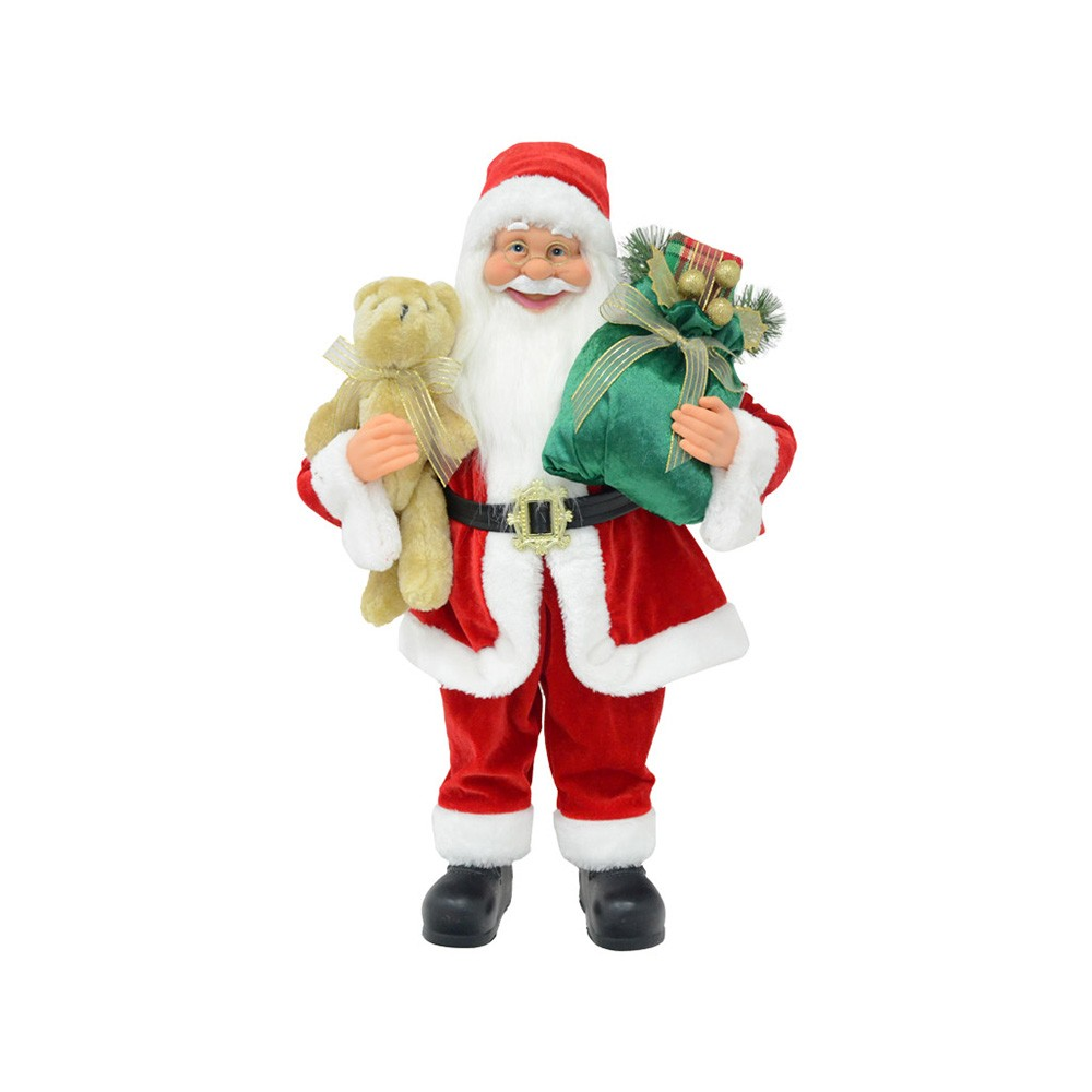 Babbo Natale 60 Cm.Babbo Natale In Piedi 60 Cm