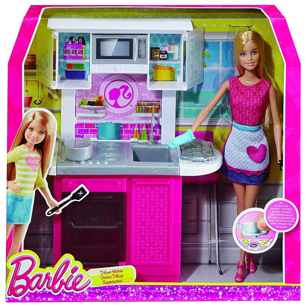 barbie con cucina - mattel