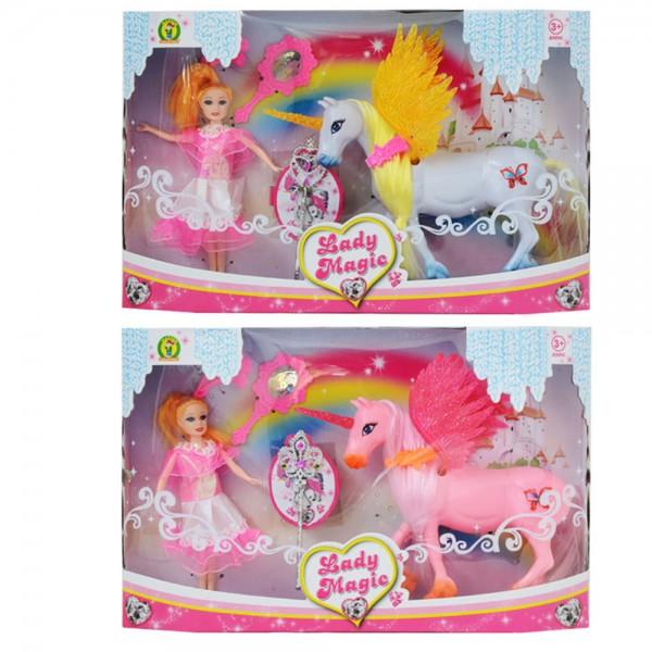 Bambola Lady Magic Unicorno - Mazzeo Giocattoli