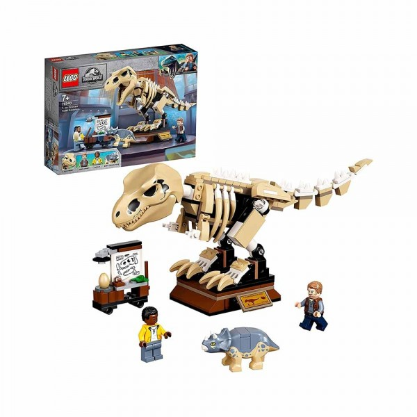 Jurassic World La mostra del fossile di dinosauro T. Rex - Lego