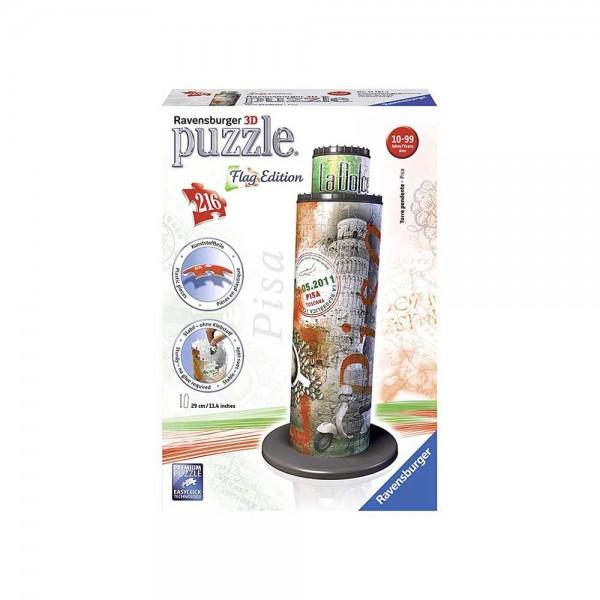 Puzzle 3D Torre di Pisa-Edizione Bandiera, 216 Pezzi - Ravensburger
