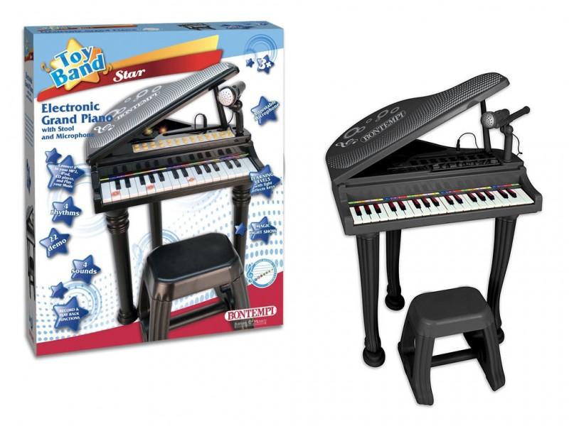Piano A Coda Con Gambe E Sgabello - Bontempi - MazzeoGiocattoli.it