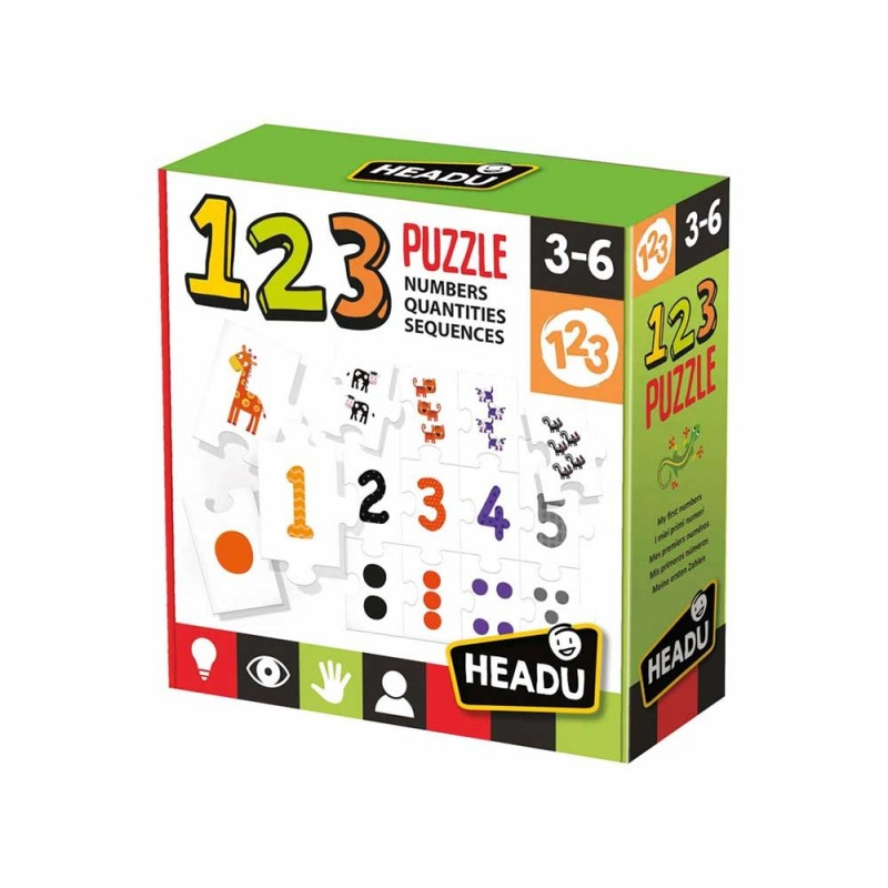 123 Puzzle - Headu  - MazzeoGiocattoli.it