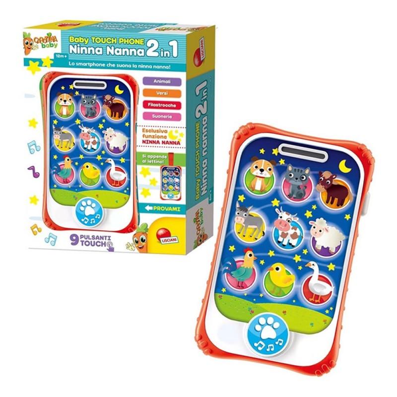 Carotina Baby Touch Phone Ninna Nanna - Lisciani  - MazzeoGiocattoli.it