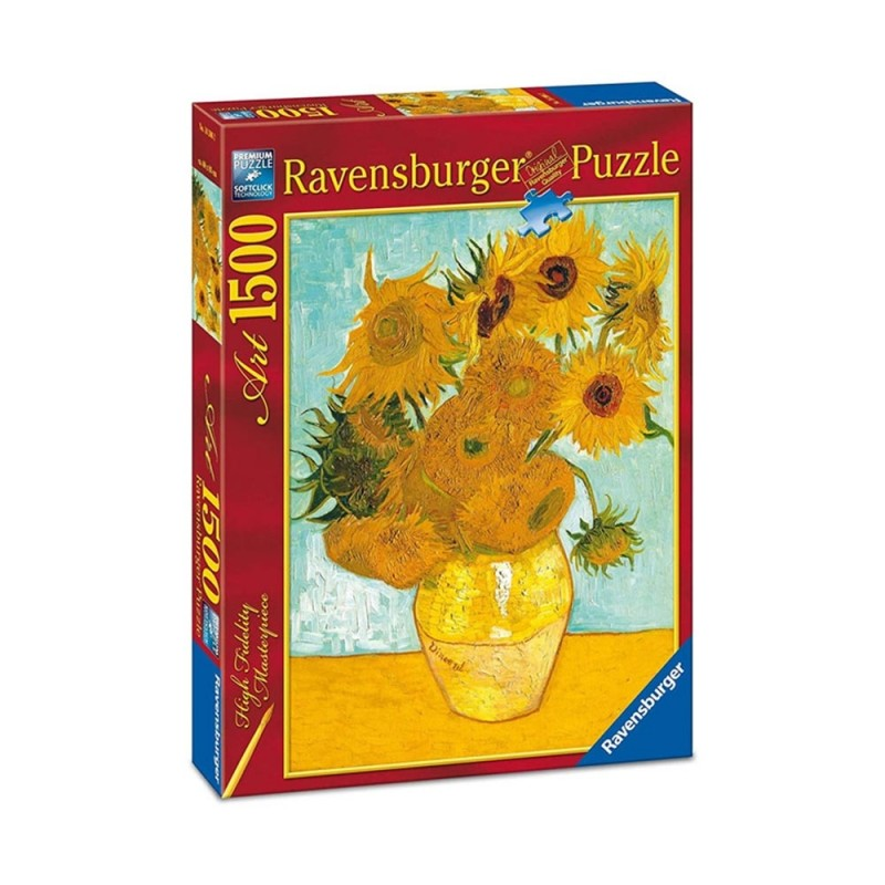 Puzzle Art Van Gogh: Vaso Con Girasoli 1500pz - Ravensburger  - MazzeoGiocattoli.it