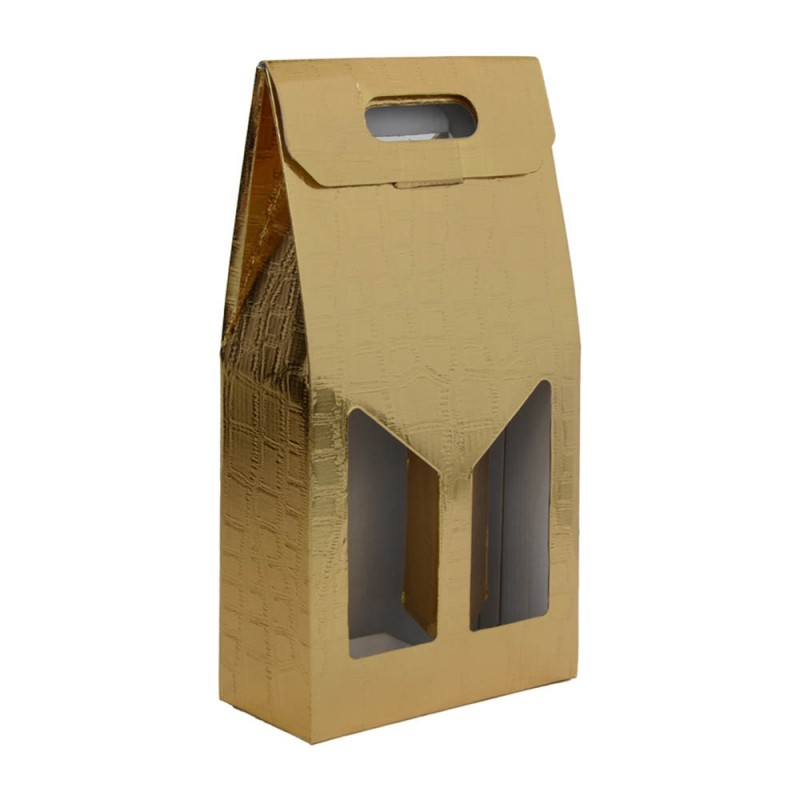 Set 10 Scatole Portabottiglie Oro Da 2 Bottiglie  - MazzeoGiocattoli.it