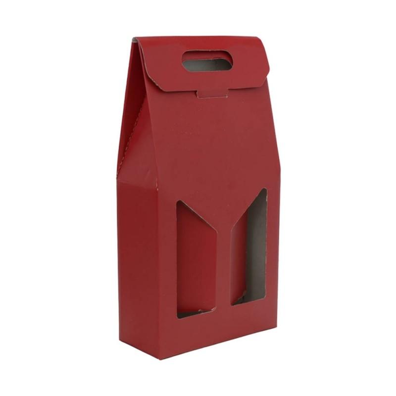 Set 10 Scatole Portabottiglie Rosso Da 2 Bottiglie - MazzeoGiocattoli.it