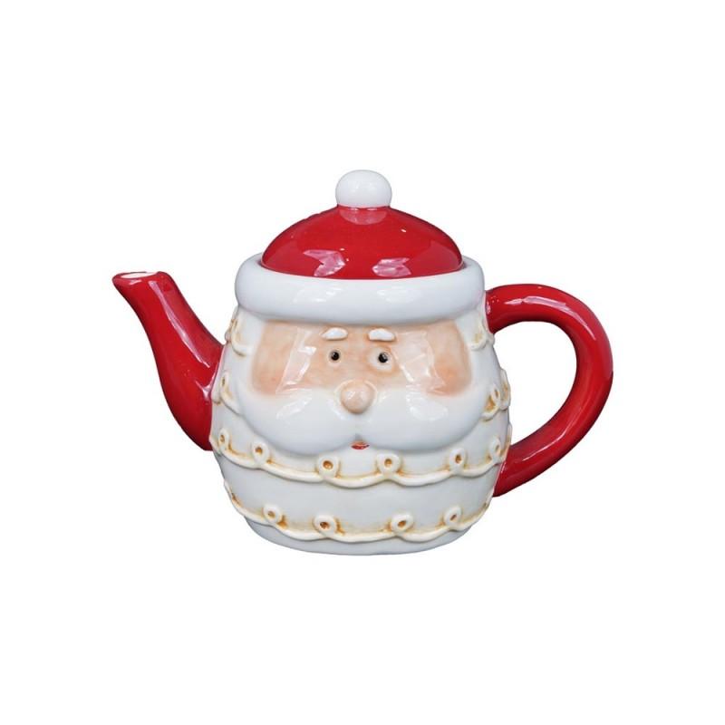 Teiera Decorata In Ceramica Con Babbo Natale  - MazzeoGiocattoli.it