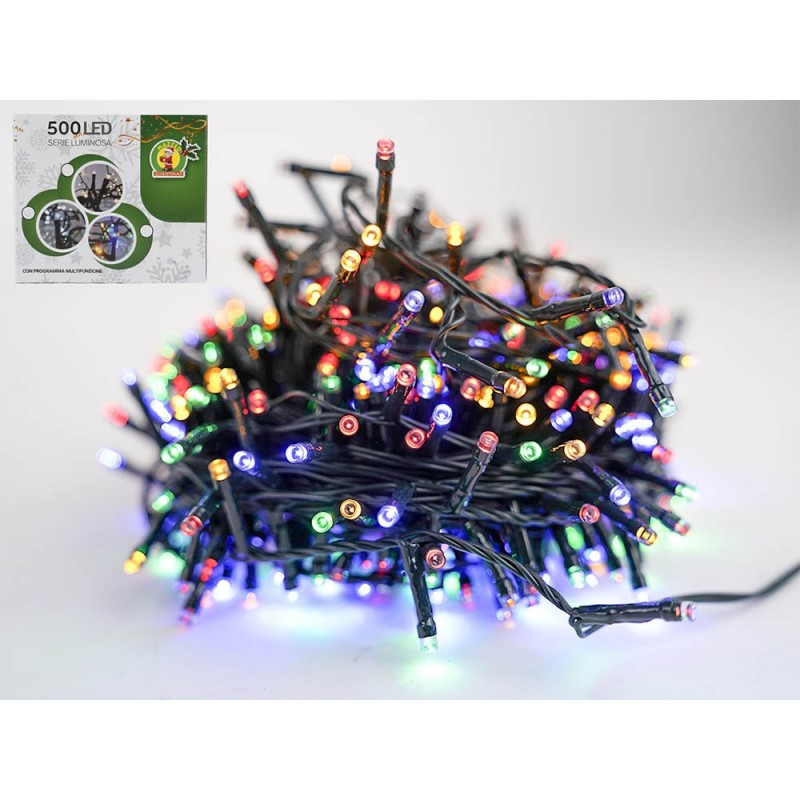 Luci Di Natale Serie 500 Led Multifunzione Luce Multicolor  - MazzeoGiocattoli.it