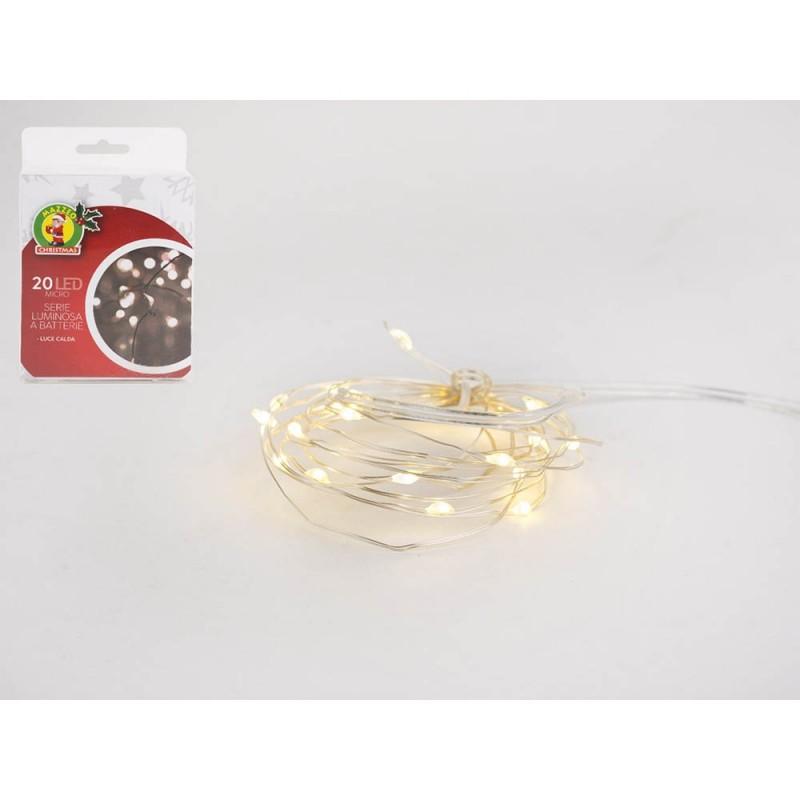 Luci Di Natale Serie 20 Microled Luce Calda  - MazzeoGiocattoli.it