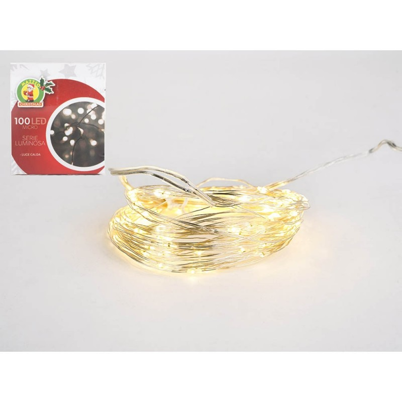 Luci Di Natale 100 Microled Luce Calda  - MazzeoGiocattoli.it
