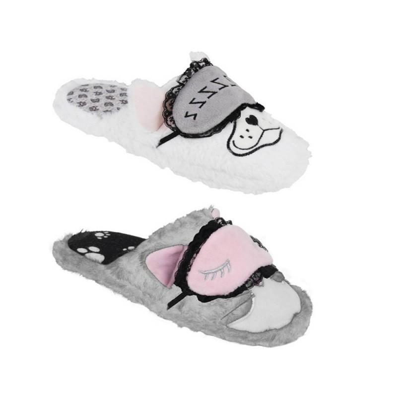 Pantofola Con Animali Che Dormono Modello Dream  - MazzeoGiocattoli.it