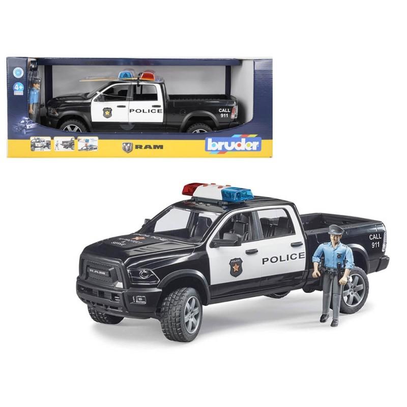 Dodge Ram 2500 Polizia Con Poliziotto Luci E Suoni - Bruder  - MazzeoGiocattoli.it