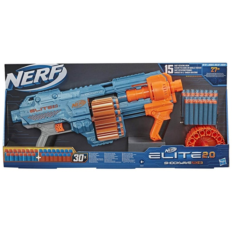 Nerf Elite 2.0 Shockwave RD-15 - Hasbro  - MazzeoGiocattoli.it