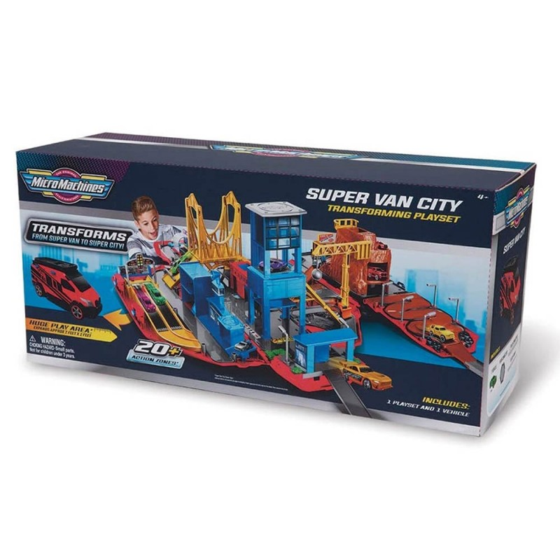Micro Machines Super Van City - Grandi Giochi  - MazzeoGiocattoli.it