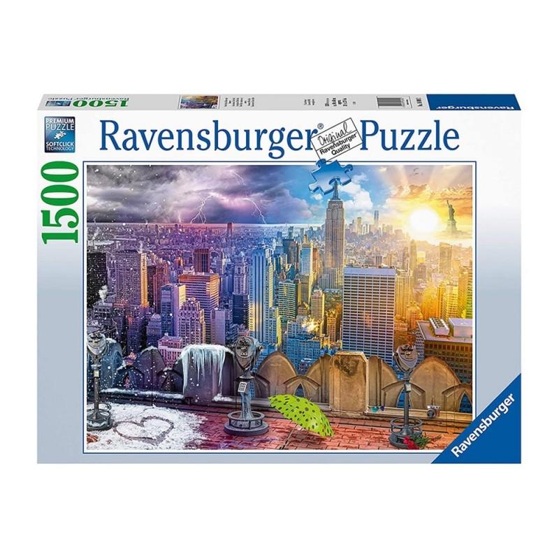 Puzzle Le Stagioni Di New York 1500pz - Ravensburger  - MazzeoGiocattoli.it