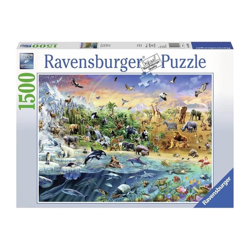 Puzzle 1500pz Mondo Selvaggio - Ravensburger - MazzeoGiocattoli.it