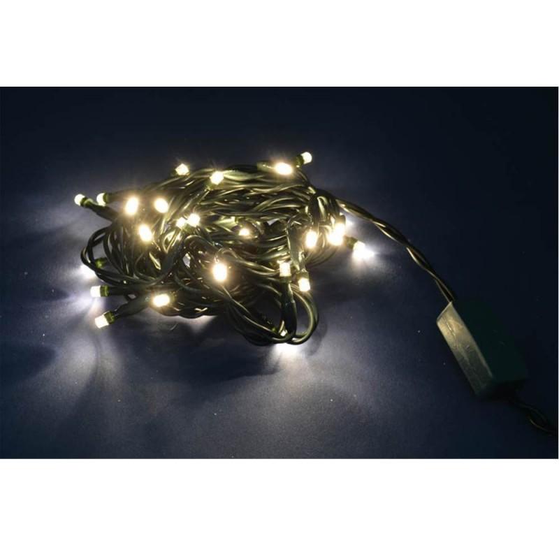 Luci Di Natale Con 20 Led A Luce Fissa Colore Bianco Caldo - MazzeoGiocattoli.it