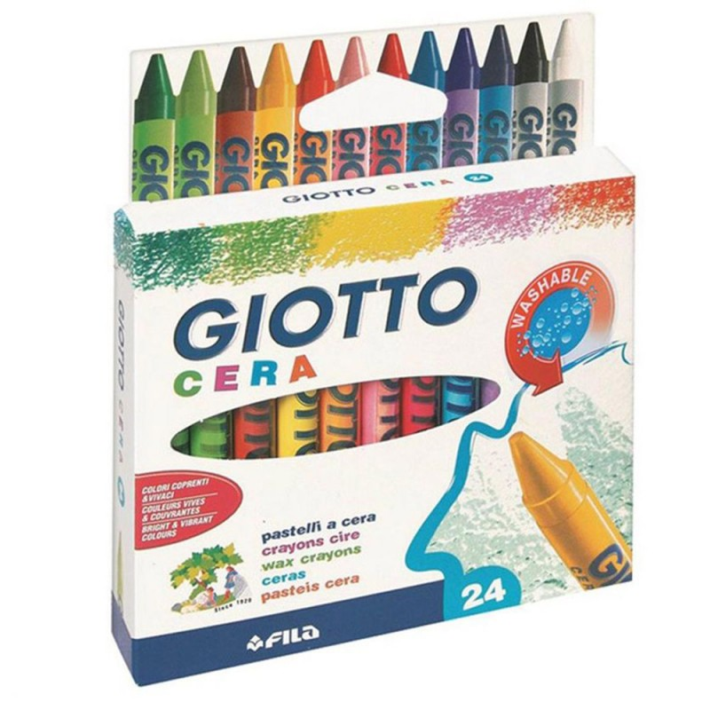 24 Pastelli A Cera - Giotto - MazzeoGiocattoli.it