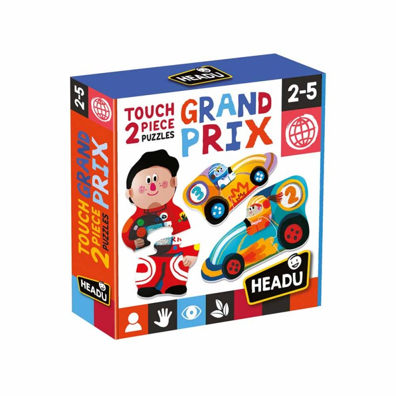 2 Pieces Touch Puzzle Grand Prix - Headu  - MazzeoGiocattoli.it