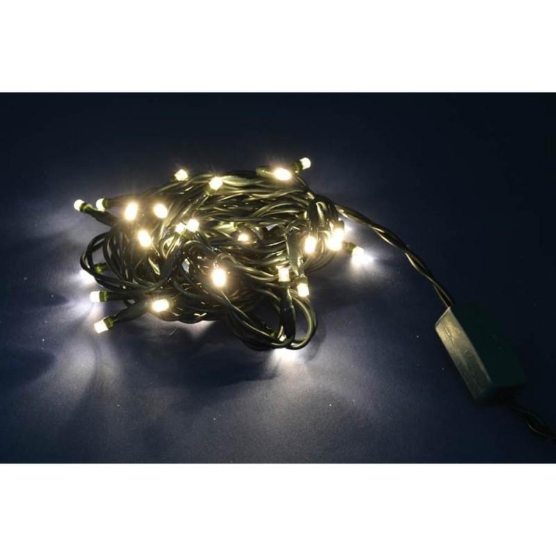 Luci Di Natale Con 40 Led A Luce Fissa Colore Bianco Caldo  - MazzeoGiocattoli.it