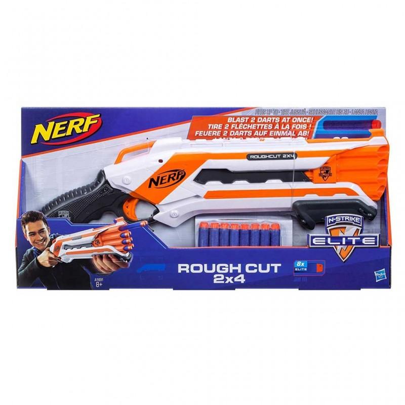 Pistola Giocattolo Nerf Rough Cut Con 8 Freccette - MazzeoGiocattoli.it