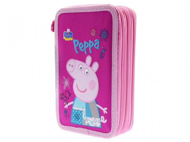 Astuccio Scuola 3 Zip Peppa Pig - MazzeoGiocattoli.it