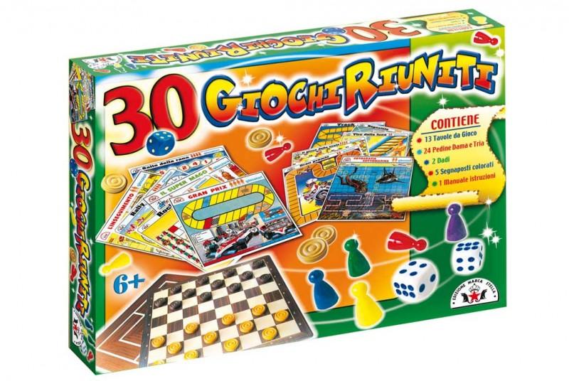 Gioco Da Tavolo 30 Giochi Riuniti - Edizione Marca Stella - MazzeoGiocattoli.it