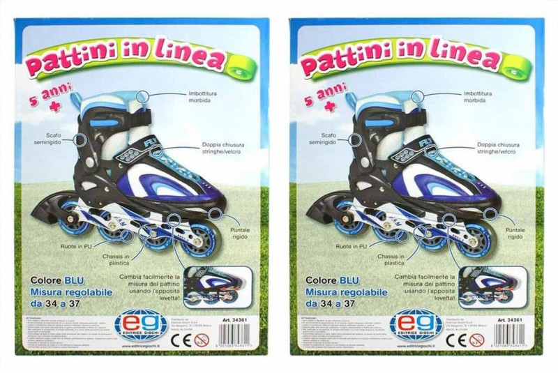 Pattini In Linea Colore Blue             - MazzeoGiocattoli.it