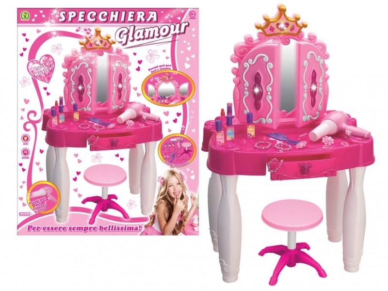 Specchiera Per Bambine Modello Glamour - Mazzeo Giocattoli                   - MazzeoGiocattoli.it