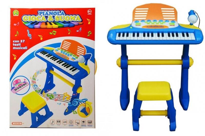 Pianola Per Bambini Con Microfono E Sgabello - MazzeoGiocattoli.it