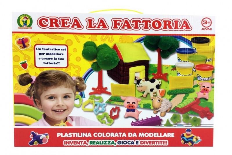Plastilina Crea La Fattoria - Mazzeo Giocattoli                    - MazzeoGiocattoli.it