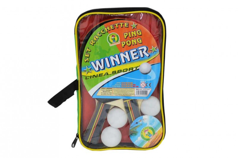 Set Racchette Ping Pong Winner    - MazzeoGiocattoli.it