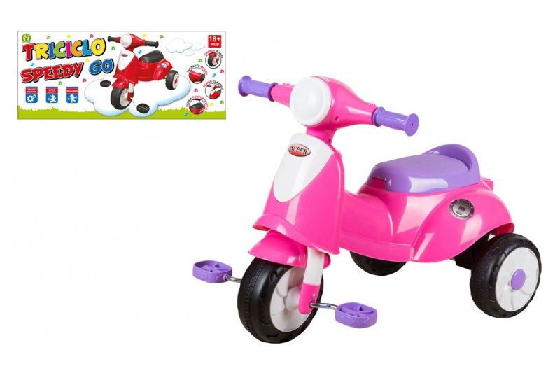 Triciclo Speedy Go Rosa - MazzeoGiocattoli.it