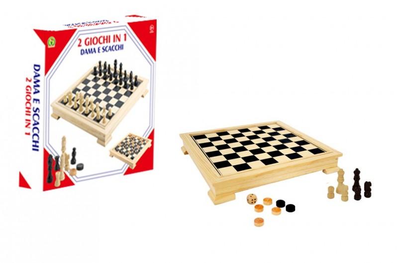 2 Giochi In 1 Dama E Scacchi - Mazzeo Giocattoli - MazzeoGiocattoli.it