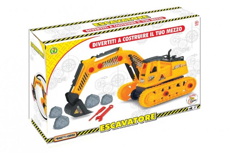 Escavatore Costruisci Il Tuo Mezzo - Mazzeo Giocattoli - MazzeoGiocattoli.it