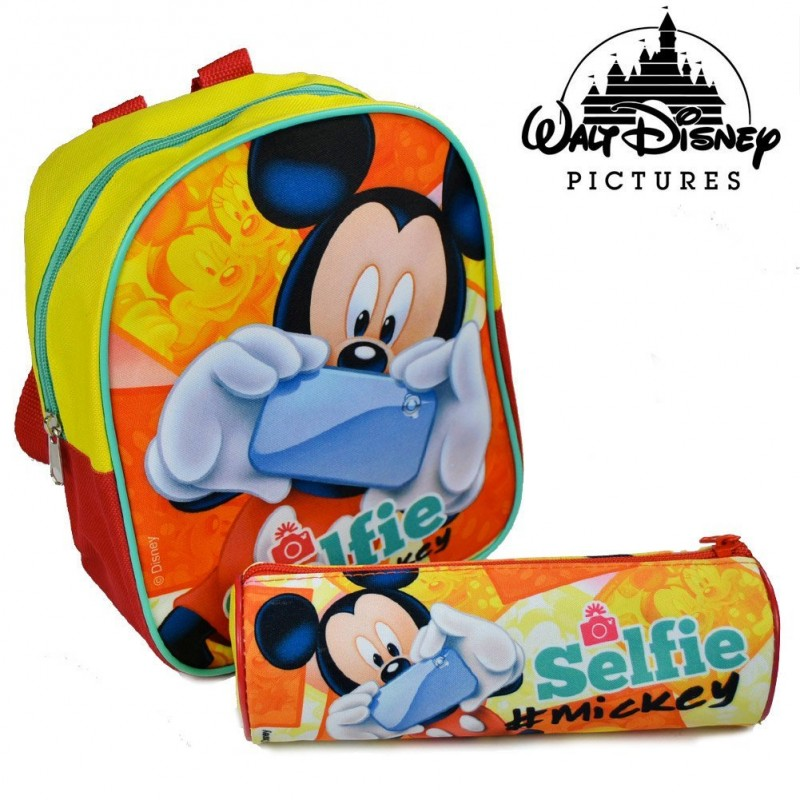 Zaino Asilo Disney Mickey Con Astuccio - MazzeoGiocattoli.it