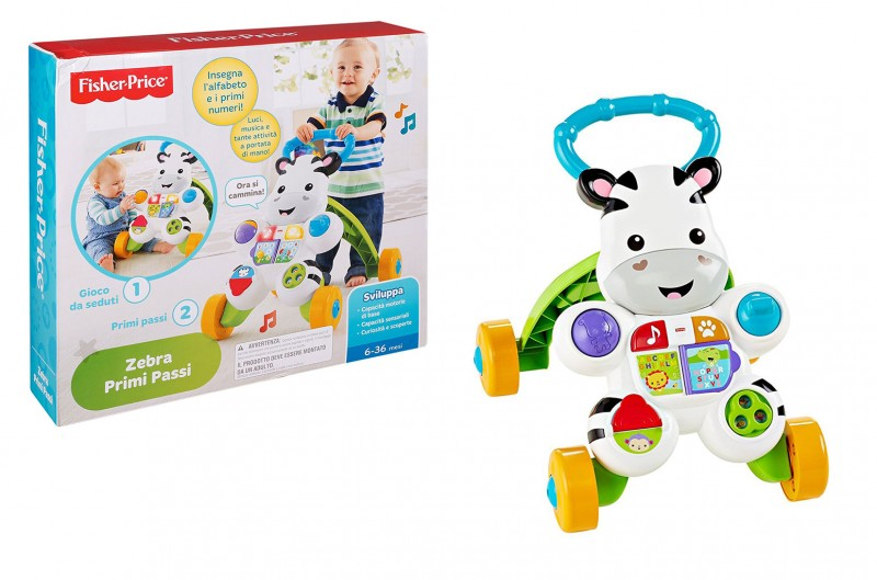 Primi Passi Zebra - Fisher Price         - MazzeoGiocattoli.it