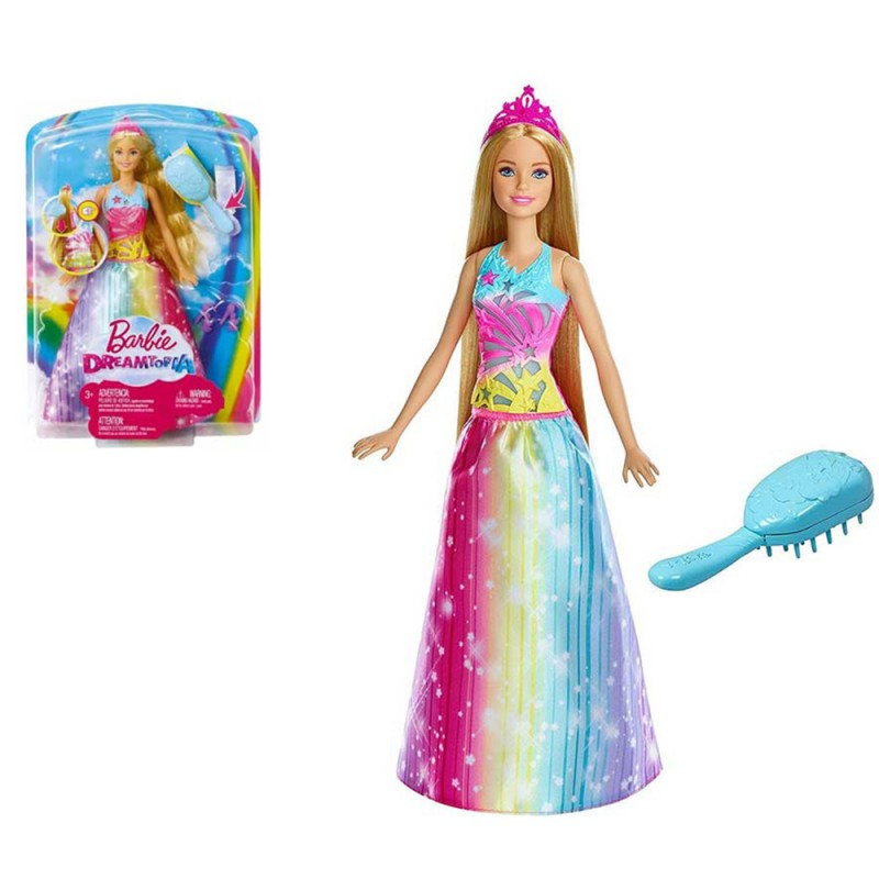 Barbie Dreamtopia Pettina E Brilla - Mattel  - MazzeoGiocattoli.it