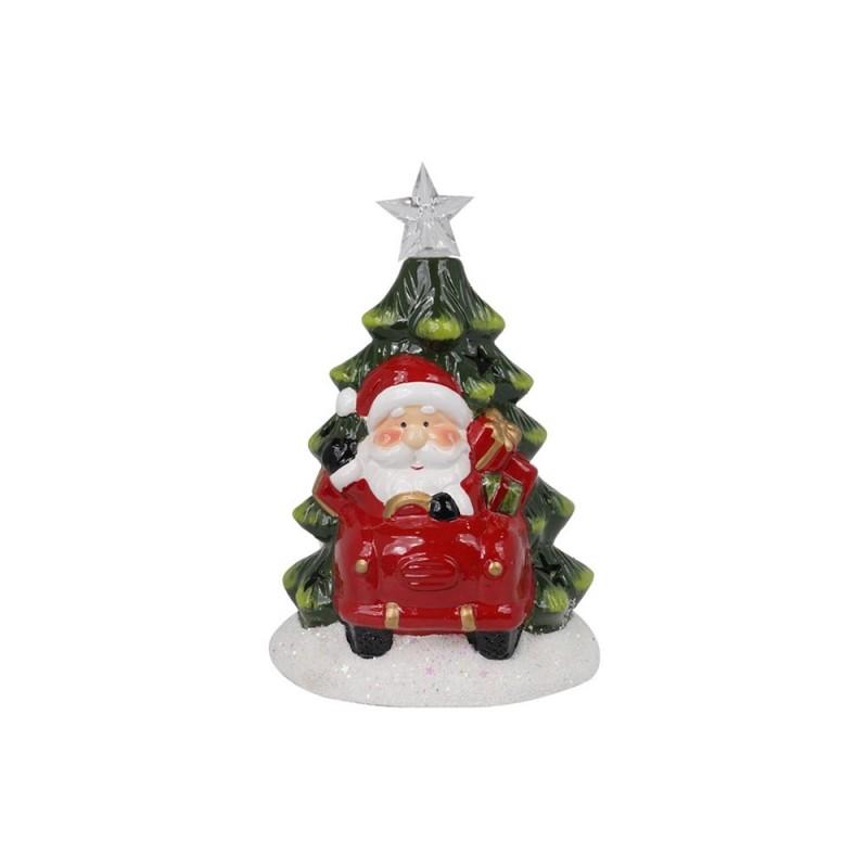 Babbo Natale Con Albero E Luci Led  - MazzeoGiocattoli.it