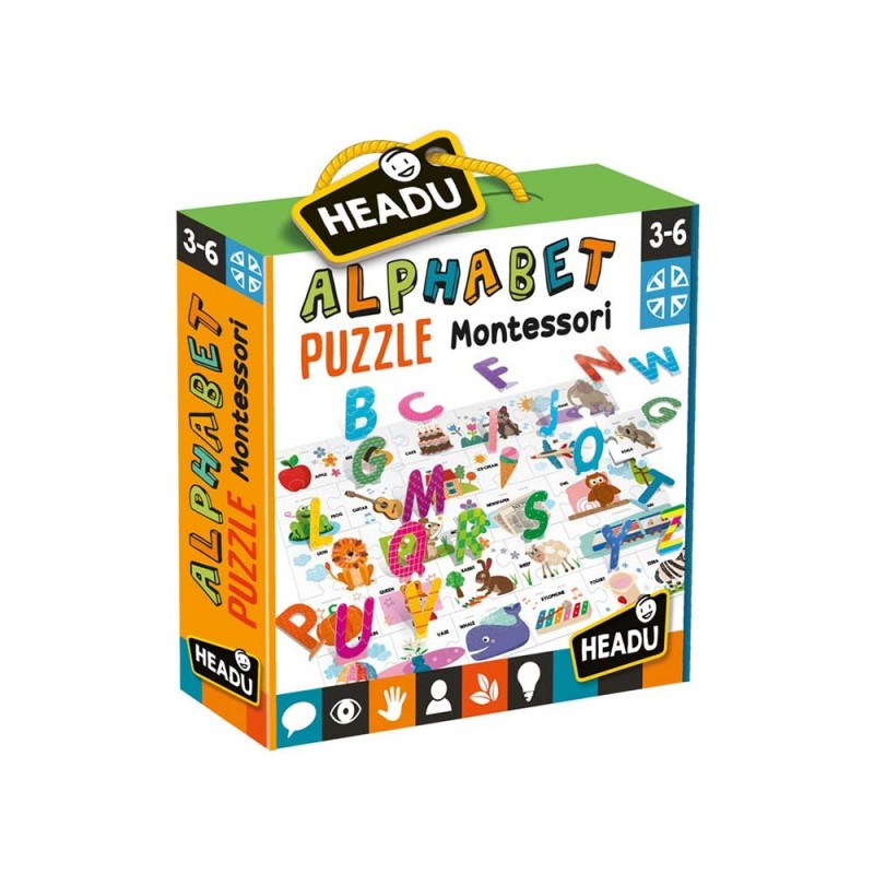 Alphabet Puzzle 3D - Headu  - MazzeoGiocattoli.it