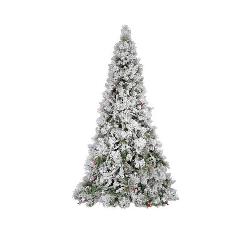 Albero Di Natale Modello Argentato Delle Murge Con Pigne E Bacche Cm 240  - MazzeoGiocattoli.it