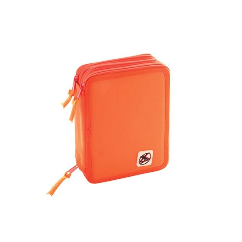 Astuccio 3 Zip 18+18 X-one Arancione Fluo  - MazzeoGiocattoli.it